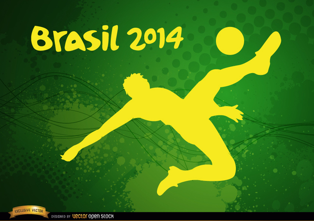 Free Player kicking Brasil 2014 football