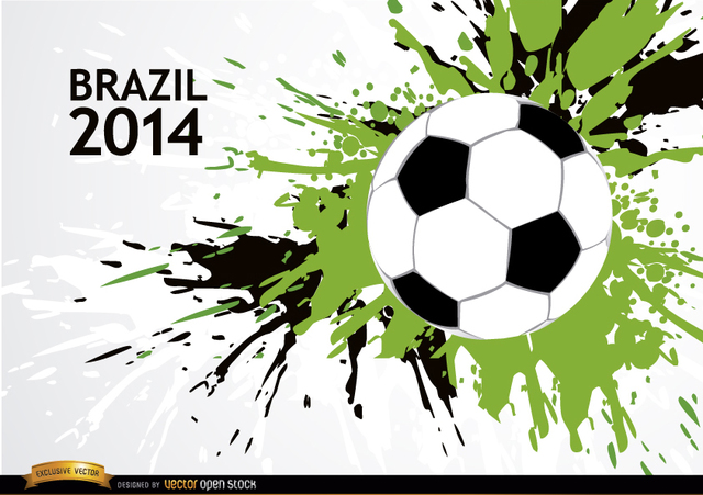 Free Grunge soccer background Brazil 2014