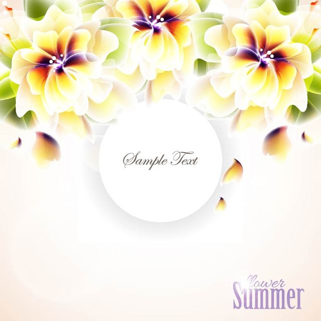 Free Bright Hawaiian Flower Summer Background