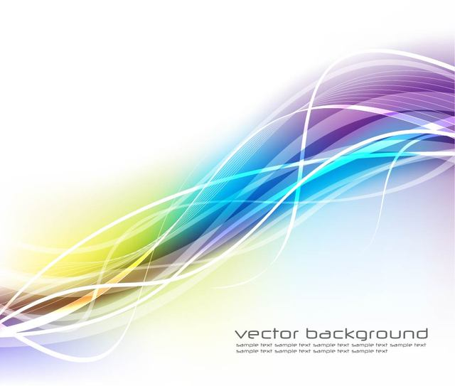 Free Fluorescent Colorful Wavy Lines Background