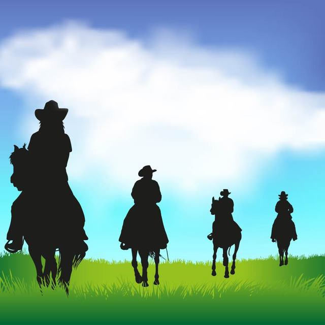 Free Cowboy Silhouettes with Horses