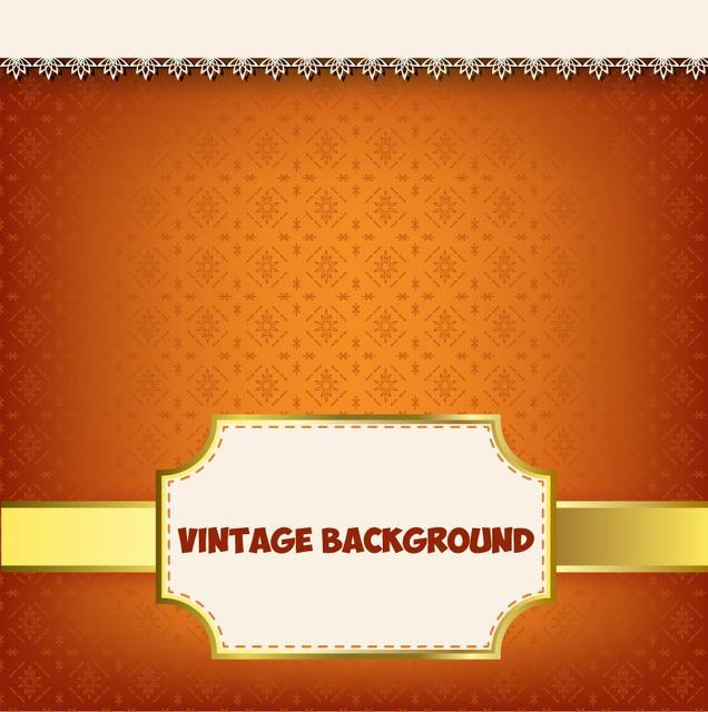 Free Vintage Label Floral Pattern Background