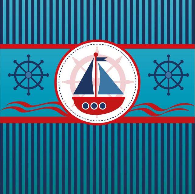 Free Sailboat Blue Lines Background
