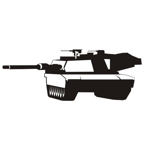 Free Abrams tank vector