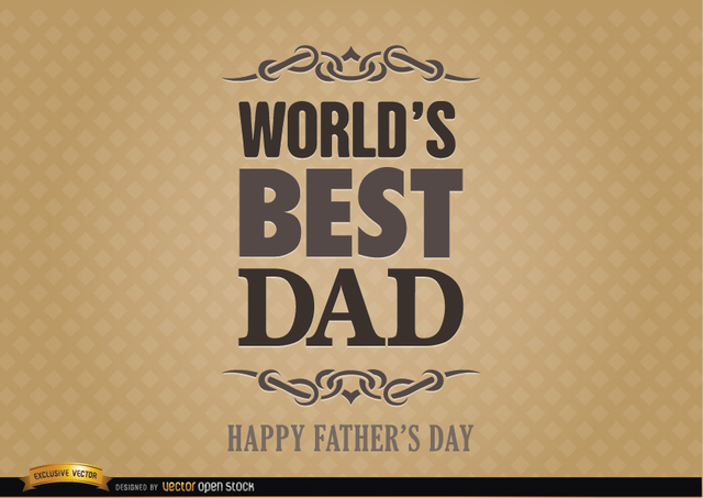Free Father's day label world best dad