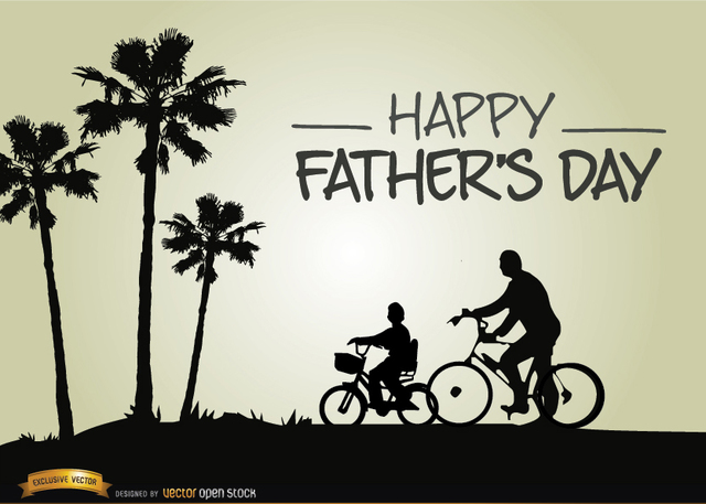 Free Vectors: Father?s day riding bike with son | Vector Open Stock