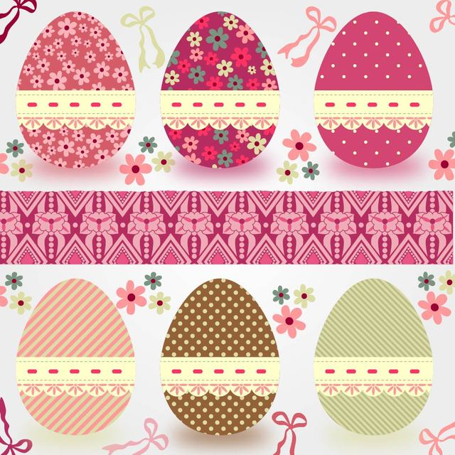 Free Funky Easter Eggs Decoration