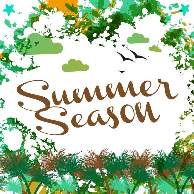 Free Abstract Grungy Summer Season Card