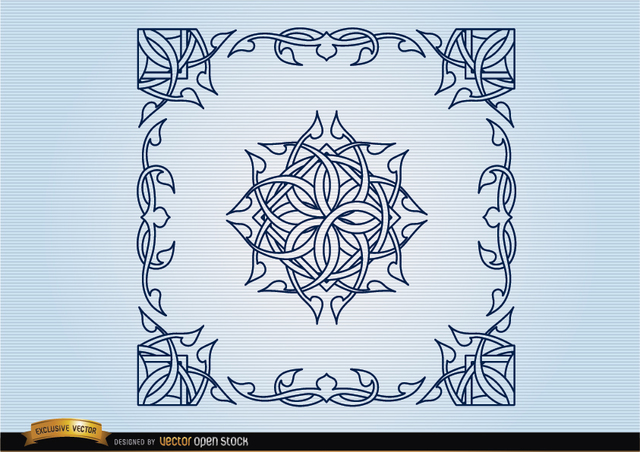 Free Celtic decorative borders