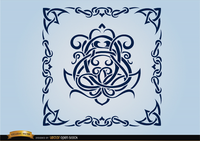 Free Celtic swirls ornamental frame