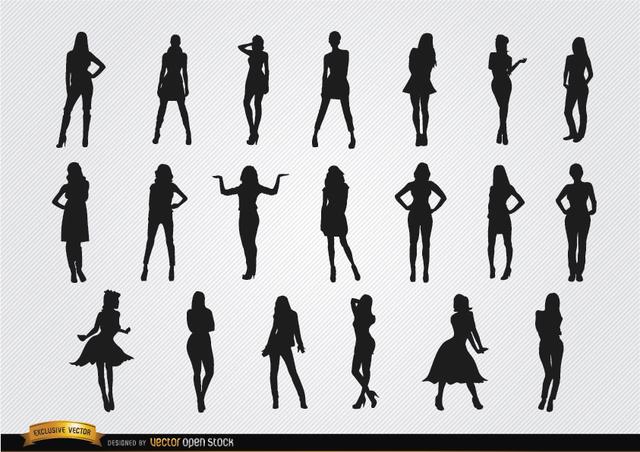 Free Women posing silhouettes