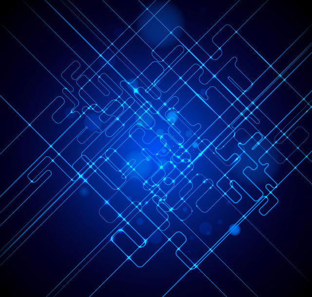 Free Futuristic Fluorescent Blue Tech Lines Background