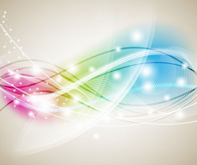 Free Glowing Colorful Background with Wavy Lines