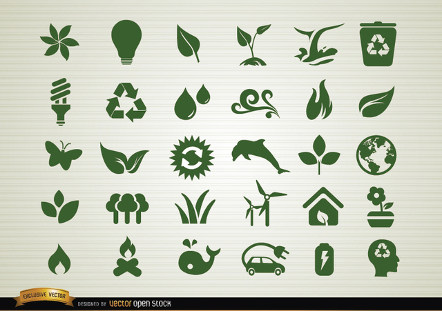 Free Environmental awareness icons set