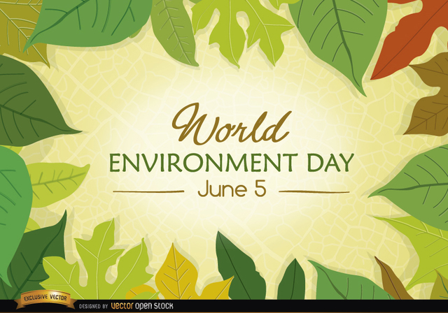 Free Leaves surrounding World Environment Day