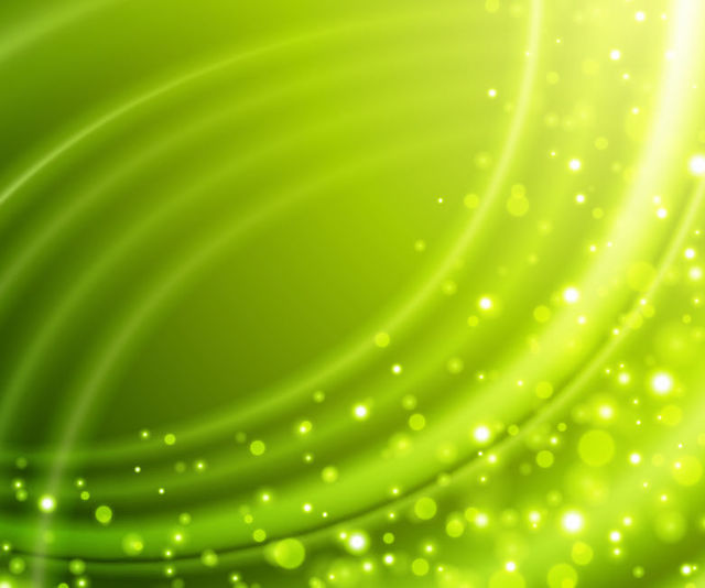 Free Green Wrinkled Background with Bokeh Bubbles