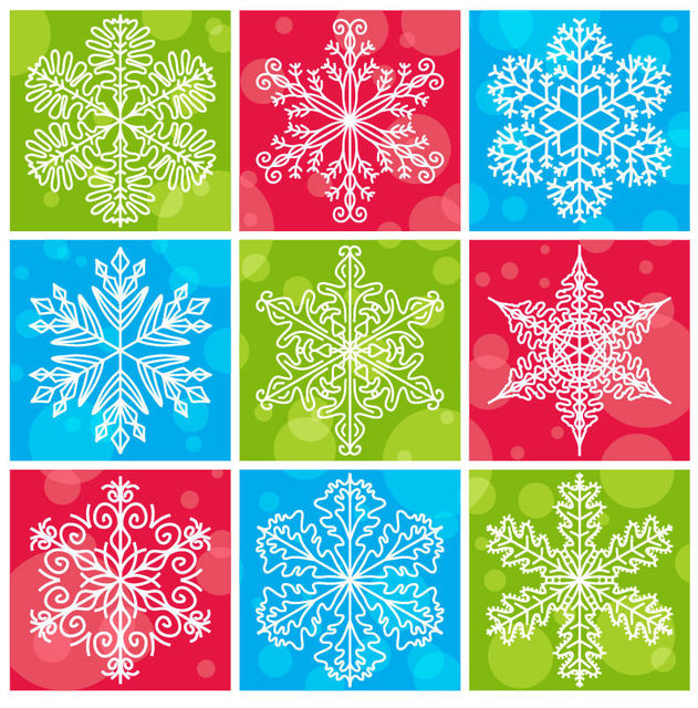 Free Snowflakes Pack with Bubbles & Different Backgrounds