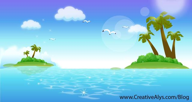 Free Fresh Beautiful Tropical Ocean Island