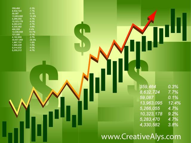 Free Green Financial Stock Infographic Background