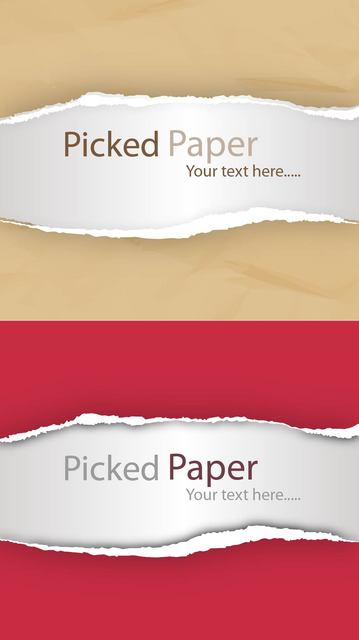 Free Realistic Torn Ripped Picked Paper