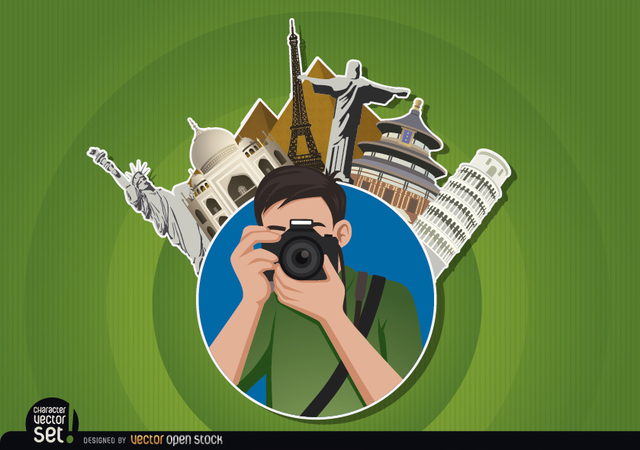 Free Photographer logo with landmarks