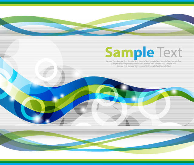 Free Corporate Background Template with Waves & Circles