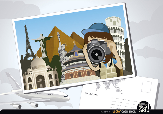 Free Travel photography postcard