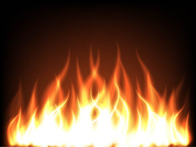 Free Realistic Leaping Flames Background
