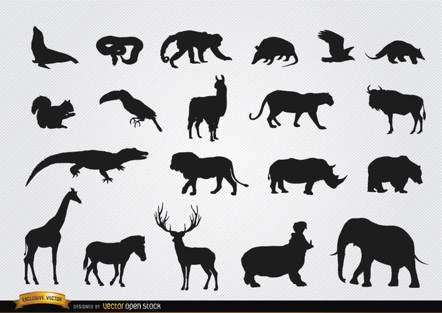 Free Vectors: Wild animal silhouettes | Vector Open Stock