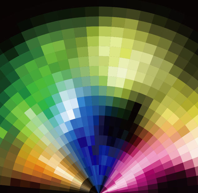 Free Colorful Radial Tilled Mosaic Background