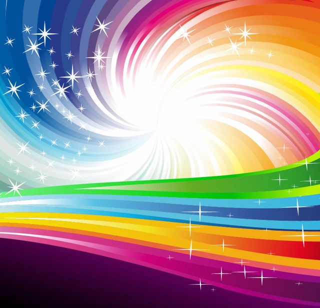 Free Rainbow Vortex Background with Swirling Lines