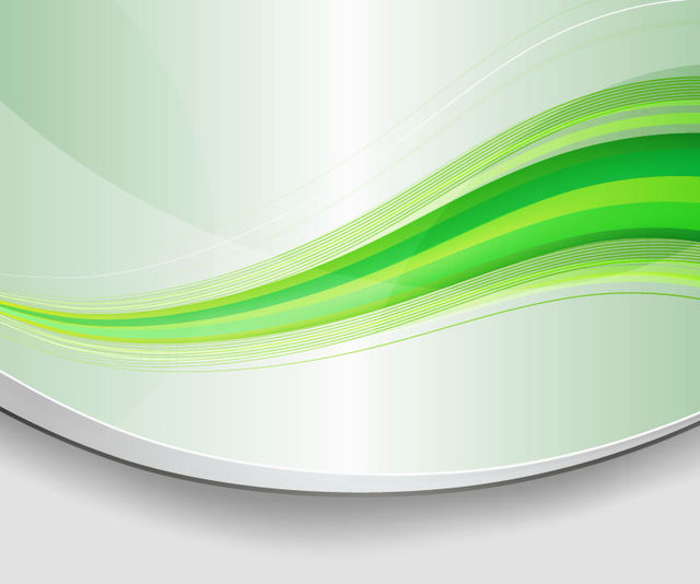 Free Abstract Green Waves Background with Curves
