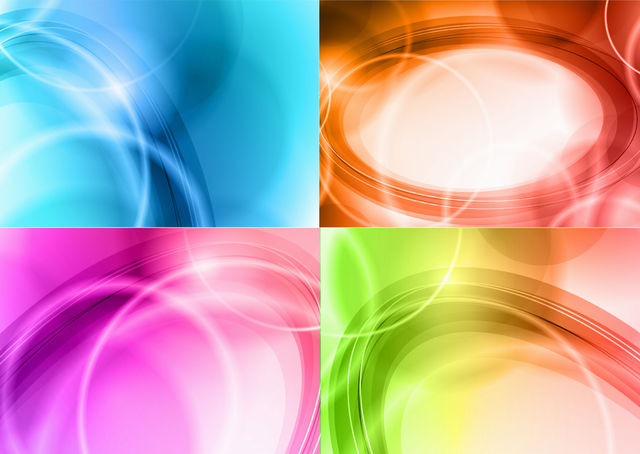 Free Abstract Shiny Curves Colorful Background Pack