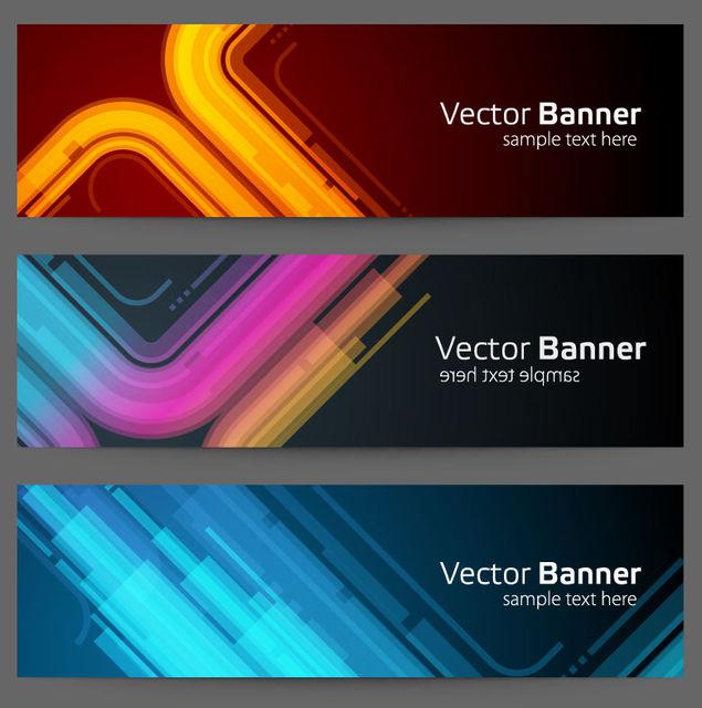 Free 3 Neon Glow Tech Banners
