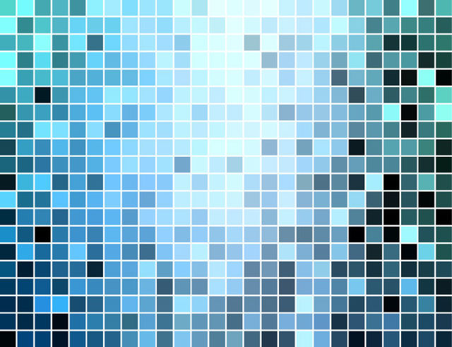 Free Blue Square Mosaic Tiles Background