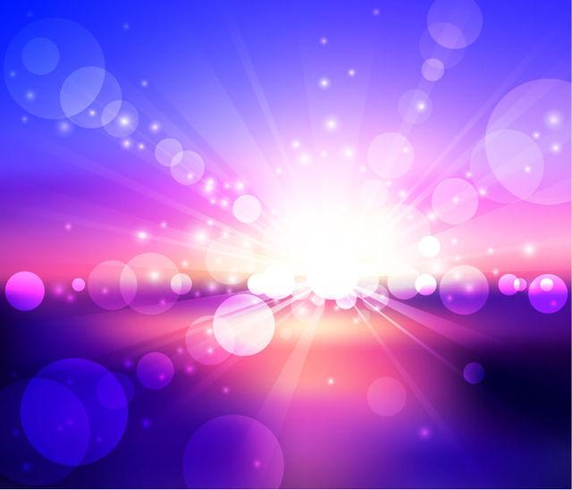 Free Sunlight Glares on Colorful Background
