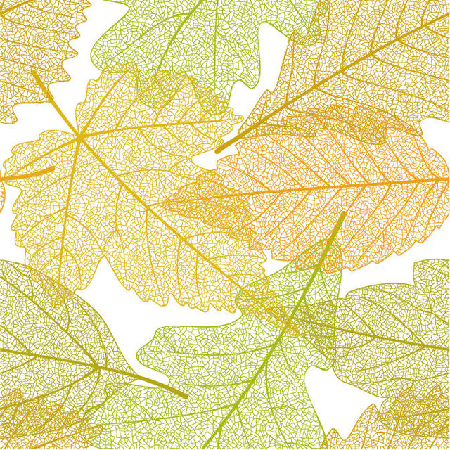 Free Seamless Linen Autumn Leaves Pattern