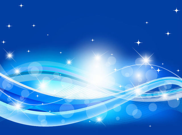 Free Abstract Blue Wave Background with Sparkles