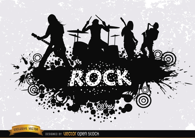 Free Rock band grunge silhouette