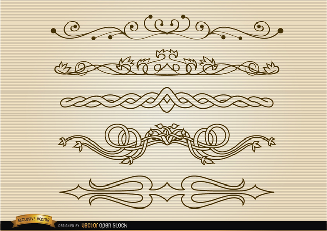 Free Decorative division lines set