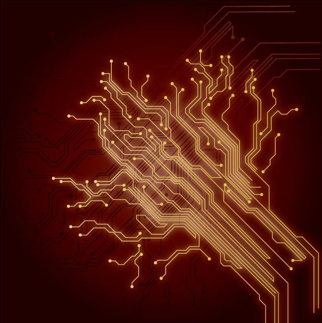 Free Chip Wires Abstract Electrical Background