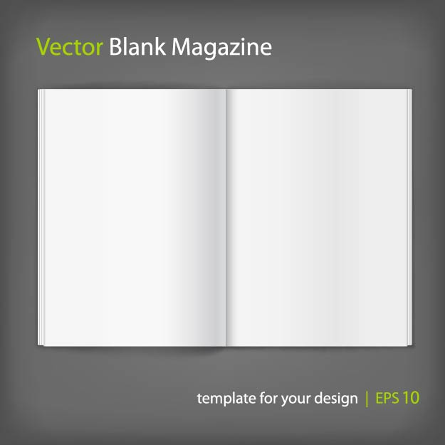 Free Blank Opened Magazine Layout