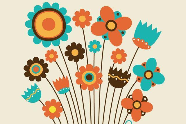 Free Funky Kids Drawn Flower Pack