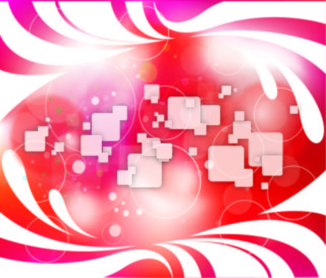 Free Abstract Background with Swirls, Squares & Circles