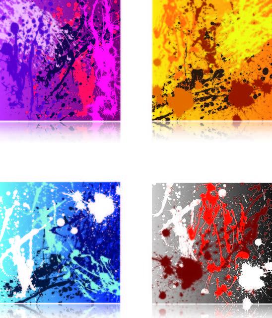 Free Colorful Grungy Paint Splatter Texture Set