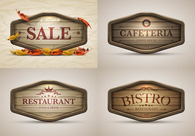 Free Vintage Autumn Sales and Restaurant Banners