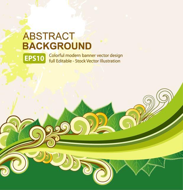 Free Abstract Organic Background Waves & Swirls