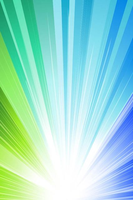Free Shiny Blue & Green Sun Rays Background