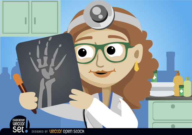 Free Doctor Woman looking radiography