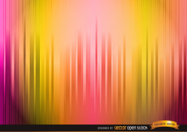 Free Lighted warm color stripes background